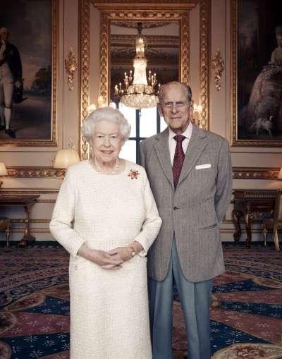 英國女王與夫婿菲利普親王今日歡度結婚70周年。(美聯社)