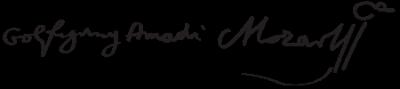 莫札特的親筆簽名(Wikipedia/Public Domain)
