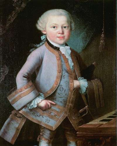 幼年莫札特,繪於1763年(Wikipedia/Public Domain)