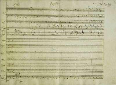 莫札特的《安魂曲》手稿(Wikipedia/Public Domain)