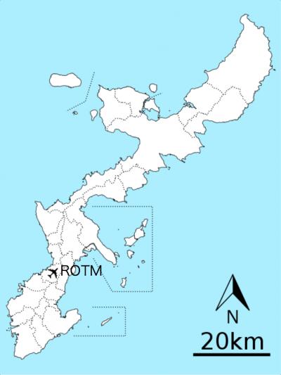 普天間基地在沖繩的位置示意圖。(Kugel~commonswiki@Wikipedia/CC BY 4.0)