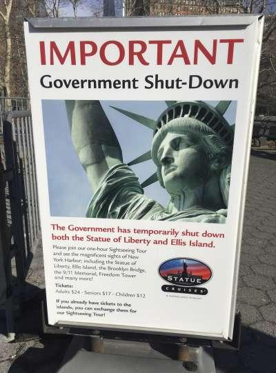 美國聯邦政府關門。(美聯社)