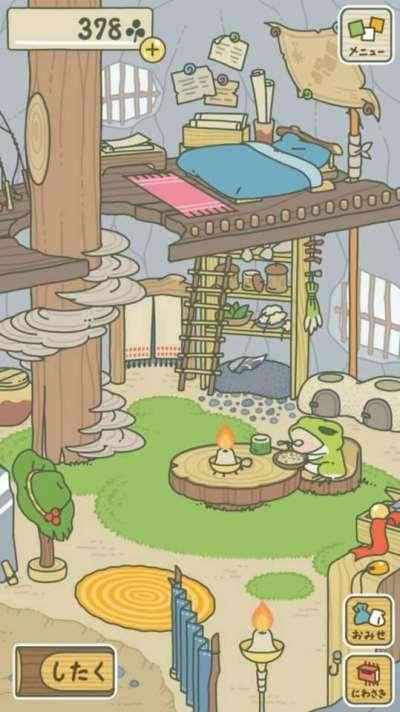 正版的「旅行青蛙」畫風療癒溫暖,近來爆紅(截自網路)