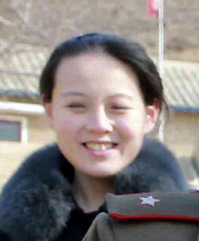 北韓最高領導人金正恩的胞妹金與正(AP)