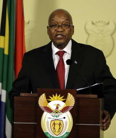 南非總統祖馬遭執政黨非洲民族議會逼宮,2月14日宣布辭職。(美聯社)