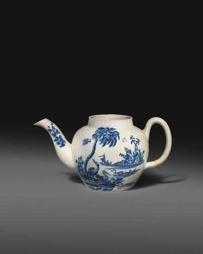 據稱為美國現存最古老的瓷茶壺。(圖/取自拍賣商Woolley&Wallis,非池中藝術提供)
