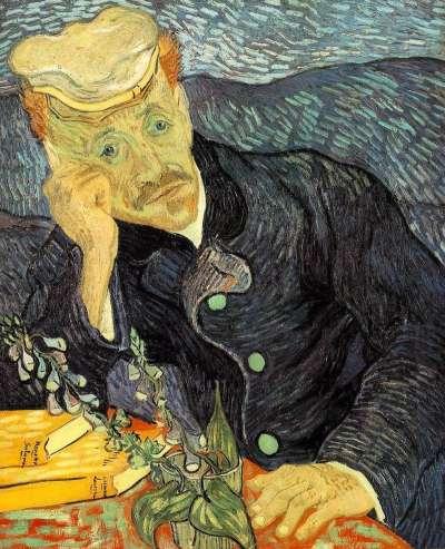 《嘉舍醫師的畫像》,目前為私人收藏(Wikipedia/Public Domain)