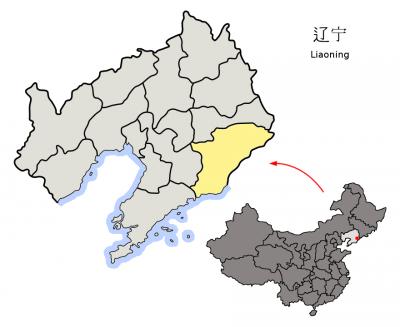 丹東位置圖。(Croquant@Wikipedia/CC BY 3.0)