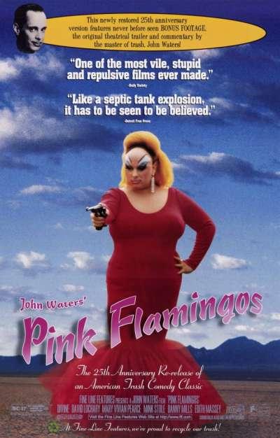 《粉紅色的火烈鳥》(Pink Flamingos,1972)(圖/取自IMDB)