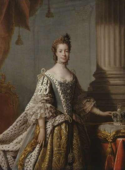 蘇格蘭著名肖像畫家雷姆塞筆下的夏綠蒂王后(Wikipedia/Public Domain)