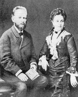 柴可夫斯基與妻子米露可娃(Wikipedia/Public Domain)