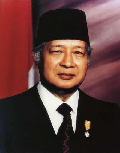 蘇哈托(Suharto),印尼獨裁者。印尼自獨立以來的第二任總統,執政超過32年。(公有領域@Wikipedia)