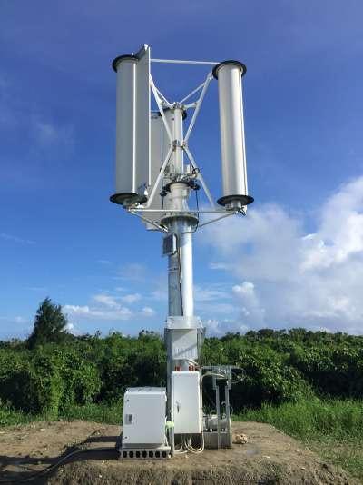 該公司於沖繩設置的1 kW(千瓦)試驗機。(圖/翻攝自 EMIRA,智慧機器人網提供)