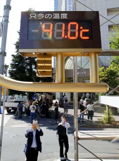 日本今夏酷熱,熊谷市甚至飆破41度。(美聯社)
