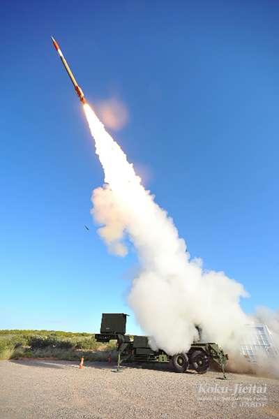 日本航空自衛隊的愛國者飛彈。(航空自衛隊官網)