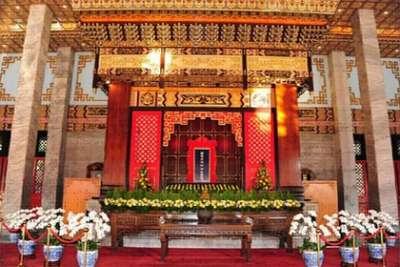 2018-10-11圓山忠烈祠大殿,其外觀型式是仿北京故宮太和殿樣式所建構的(作者提供)