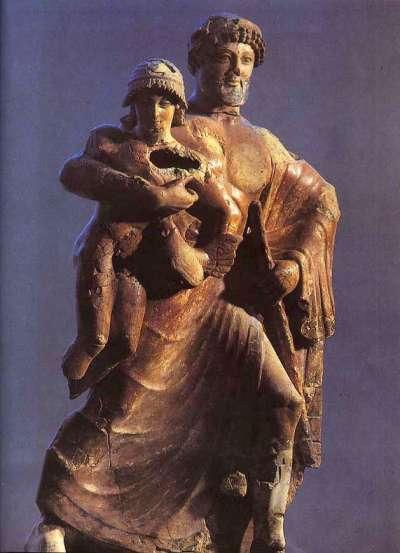 宙斯拐帶加尼米德。(圖/維基百科)