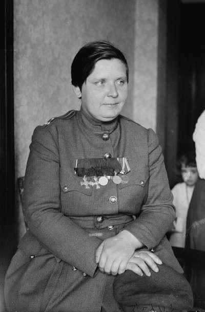 波克列娃(Maria Bochkareva)是俄羅斯第一位女性指揮官。(維基百科公有領域)