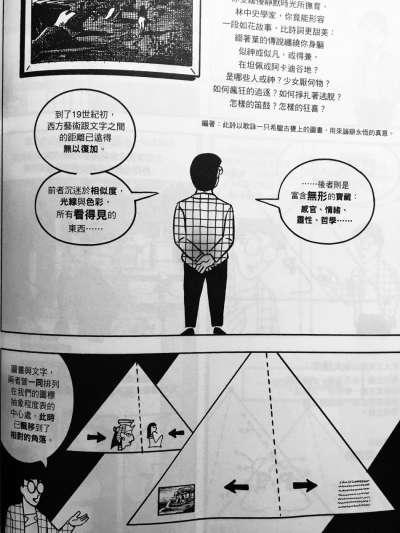 史考特繪製的圖畫/文字 三角示意圖(圖/城市美學新態度)