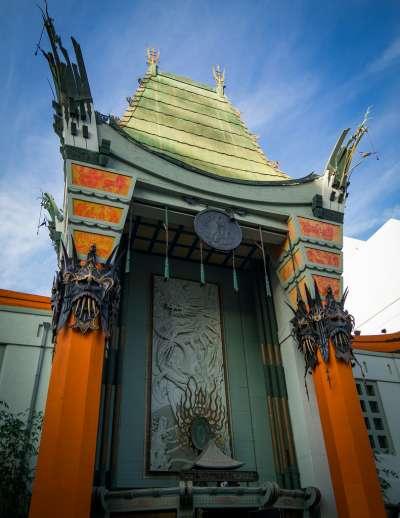 好萊塢的知名景點,中國戲院。(圖/網路截圖)