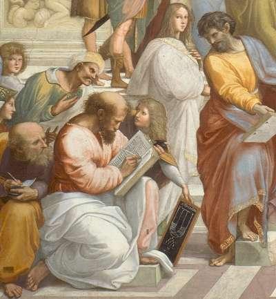 拉斐爾的畫作〈雅典學園〉部分(圖/想想論壇)