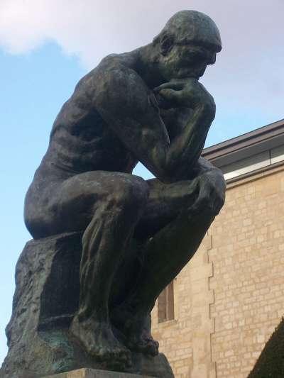 羅丹作品:沈思者(The Thinker)。(圖/城市美學新態度)