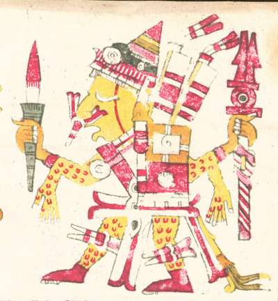 阿茲特克文獻「博爾希亞手抄本」(Codex Borgia)描繪的希佩托特克(Wikipedia/Public Domain)