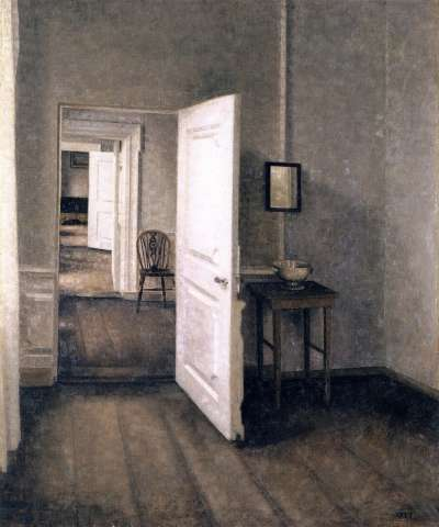 四個房間、藝術家的家 Four Rooms, Interior from the Artist's Home, Strandgade 25, 1914(圖/維基百科)