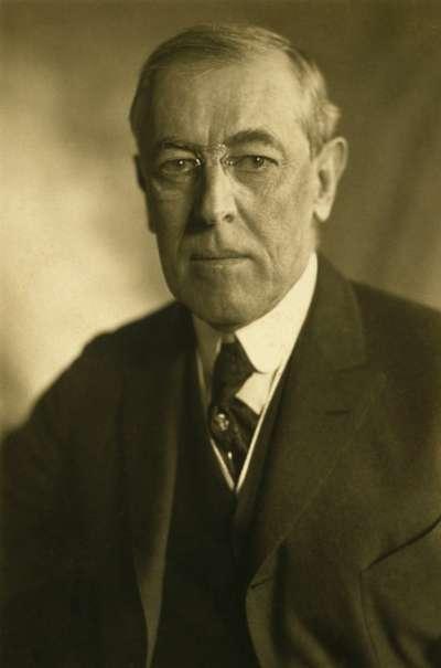美國總統威爾遜(Woodrow Wilson)。(wikipedia/public domain)