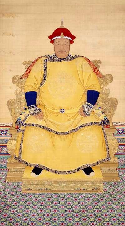 皇太極像(圖/維基百科)