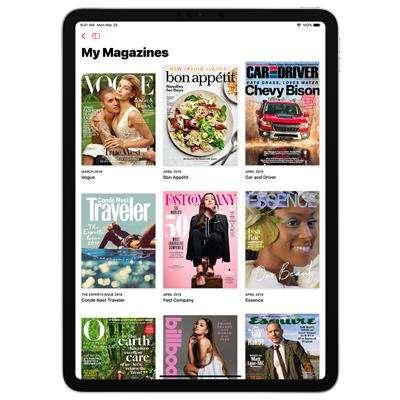 蘋果發表Apple News+,未來可以在此閱讀超過三百種知名雜誌、主流報章。(美聯社)