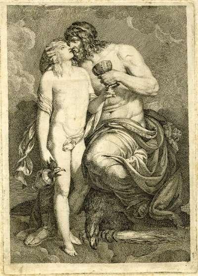 宙斯親吻小鮮肉伽倪墨得斯(圖片取自維基百科)