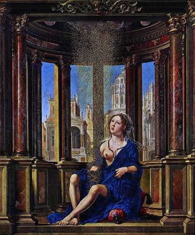 宙斯將自己化成黃金雨和被關在銅塔的達妮交歡(圖片取自維基百科)