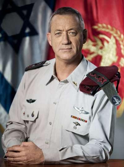 甘茨軍旅生涯近40年,是以色列的戰爭英雄。(Israel Defense Forces@Wikipedia/CC BY 2.0)