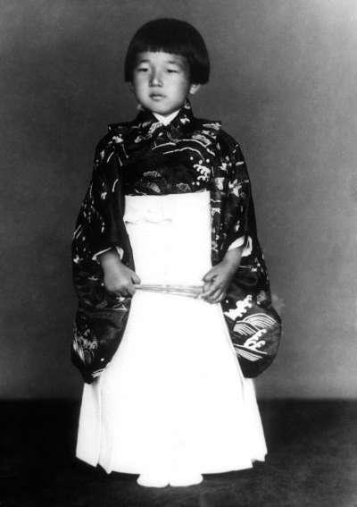1938,時年五歲的明仁親王。(美聯社)