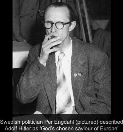瑞典極右派領袖英達爾(Per Engdahl)。(圖截自推特)