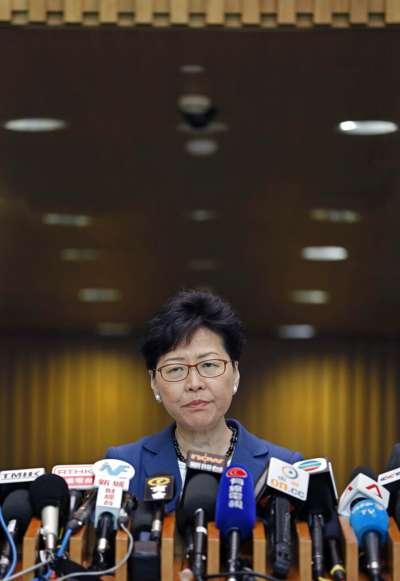 香港「民間人權陣線」9日發起反對修訂《逃犯條例》的反送中大遊行,但特首林鄭月娥依舊不願讓步。(美聯社)