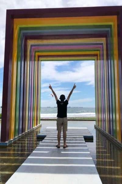 位於旗津島上的彩虹教堂,是必拍的景點之一。(黃宇綸攝)