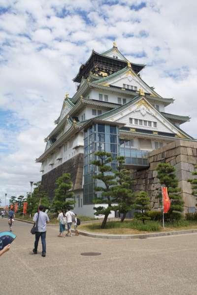 大阪城。(李忠謙攝)