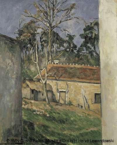 塞尚於1879~1880年繪的《農家庭園》,收藏於奧塞美術館。(作者林意凡提供)