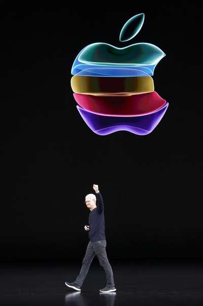 蘋果新品發表會上的庫克。(美聯社)