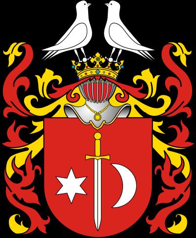 波蘭Wasilewski家族徽章。(作者提供,取自維基百科)。