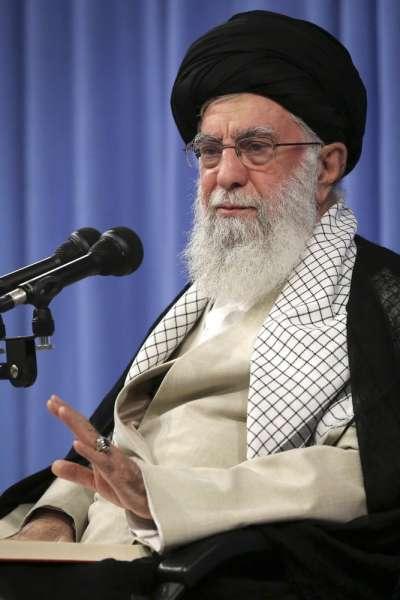 伊朗最高精神領袖哈梅內伊稱,伊朗決不會與美國談判。(AP)