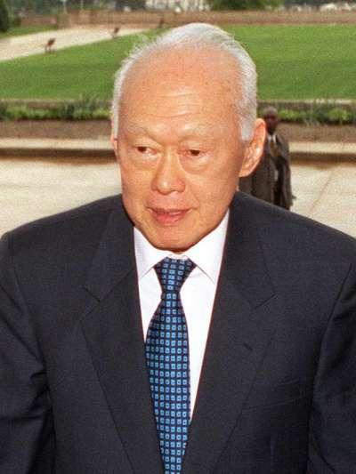 新加坡國父—李光耀。(圖片取自維基百科)