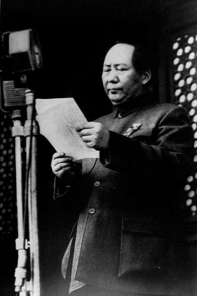 1949年10月1日中國建國大典,毛澤東在天安門宣布「新中國」成立。中國正在籌備「十一國慶」,展現70年來在經濟、軍事等發展方向的繁榮。(AP)