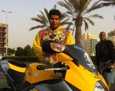 吉達的摩托車愛好者。(BBC中文網)