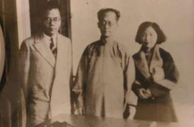 照片左為黃天鷄,中為胡漢民(作者提供)