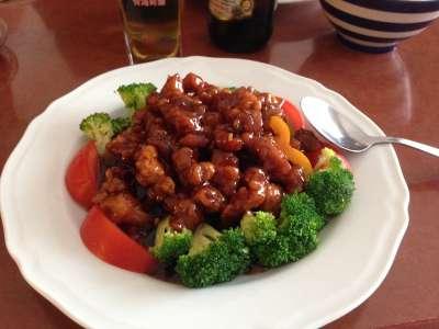 20191108-中國料理「左宗棠雞」。(資料照,取自維基百科)