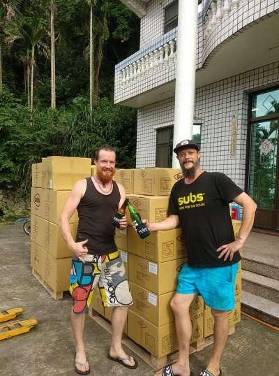 這對兄弟在台灣創業作夾腳拖。(圖/Subs@facebook)