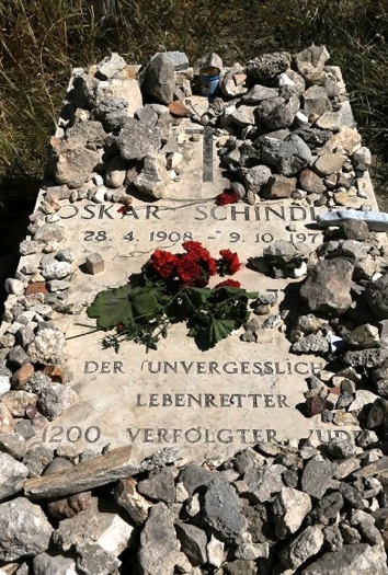 20191115-辛德勒位於耶路撒冷的的墓碑(作者提供)